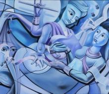 Krishna and the Vaisnavi woman.jpg
